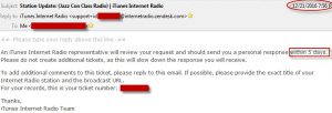 Another way to hear the broadcast on iTune Internet Radio